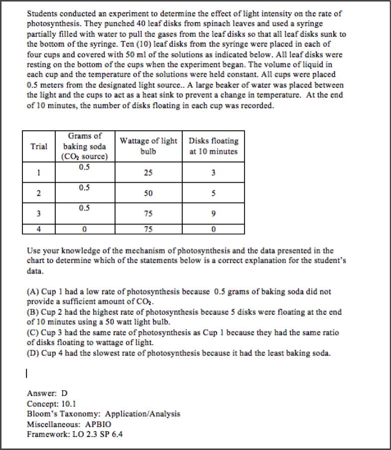 Ap bio practice exam 2015 pdf