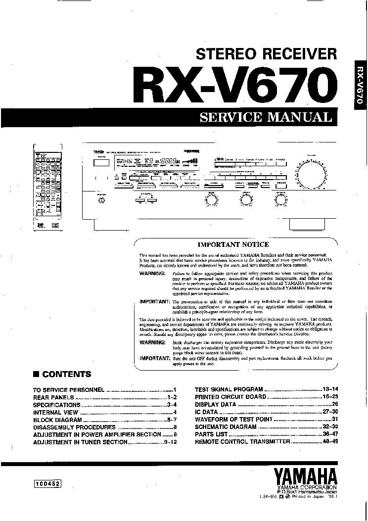 yamaha rx v677 manual pdf