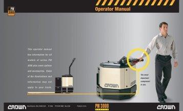 crown rc 3000 parts manual