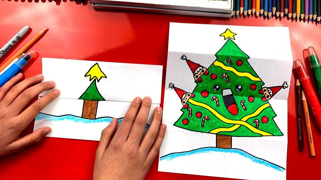 Kids hub how to draw a christmas tree