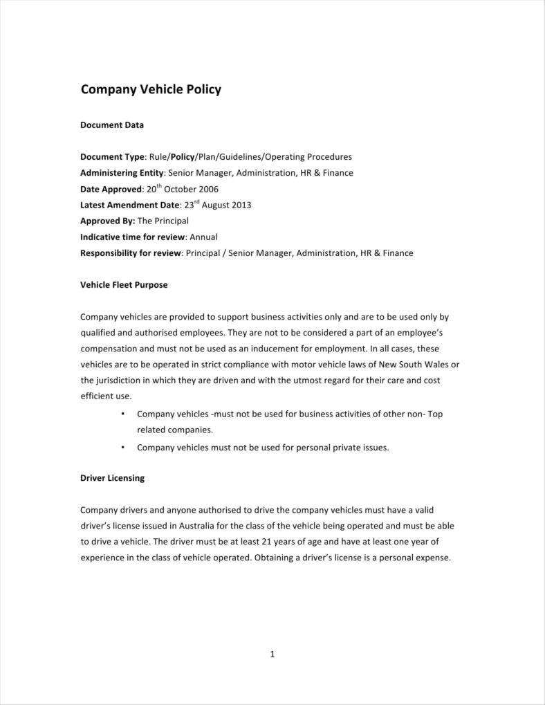 policy and procedures manual template free australia