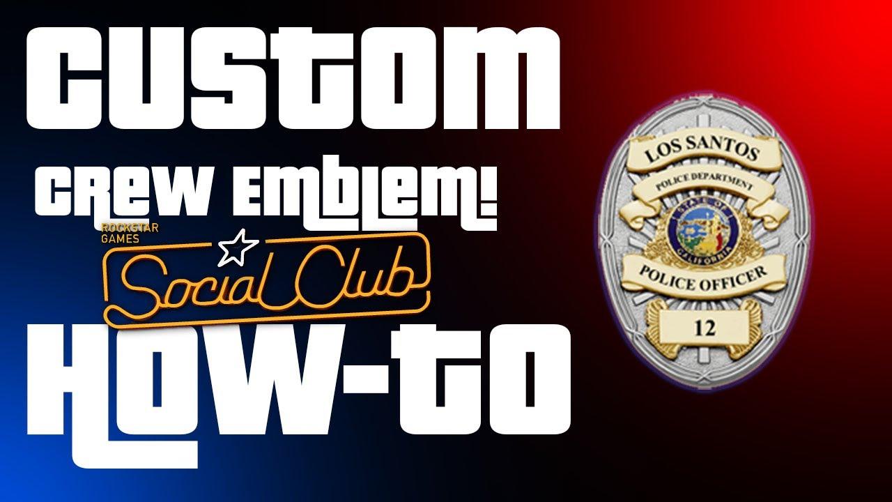 Gta 5 how to make custom crew emblem
