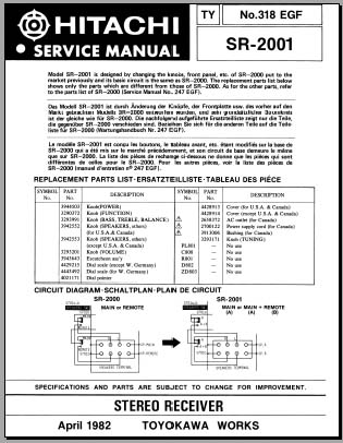 hitachi sr 903 service manual