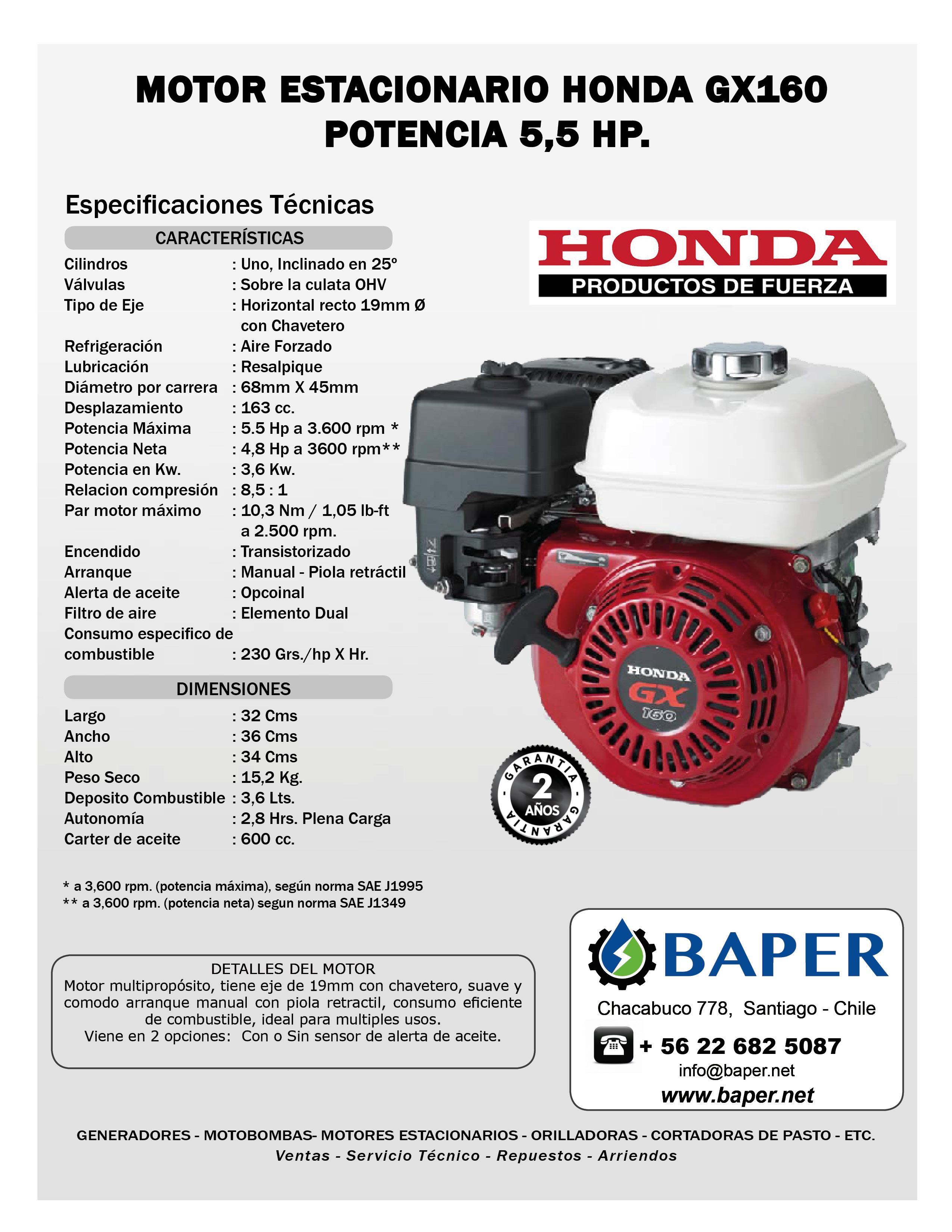 Honda gx160 5.5 hp manual