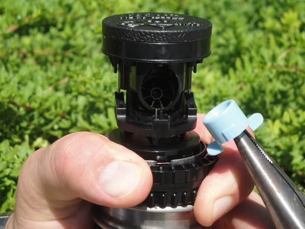 hunter sprinkler head adjustment instructions