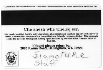 id card instructions back side