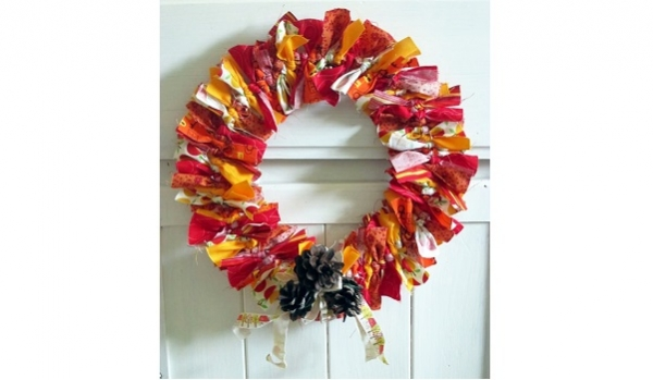 instructions for fabric scrap wreath