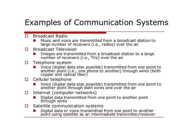 Introduction to communication systems pdf