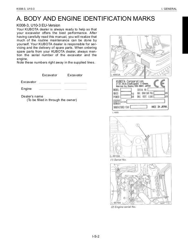 kubota k008 3 operator manual