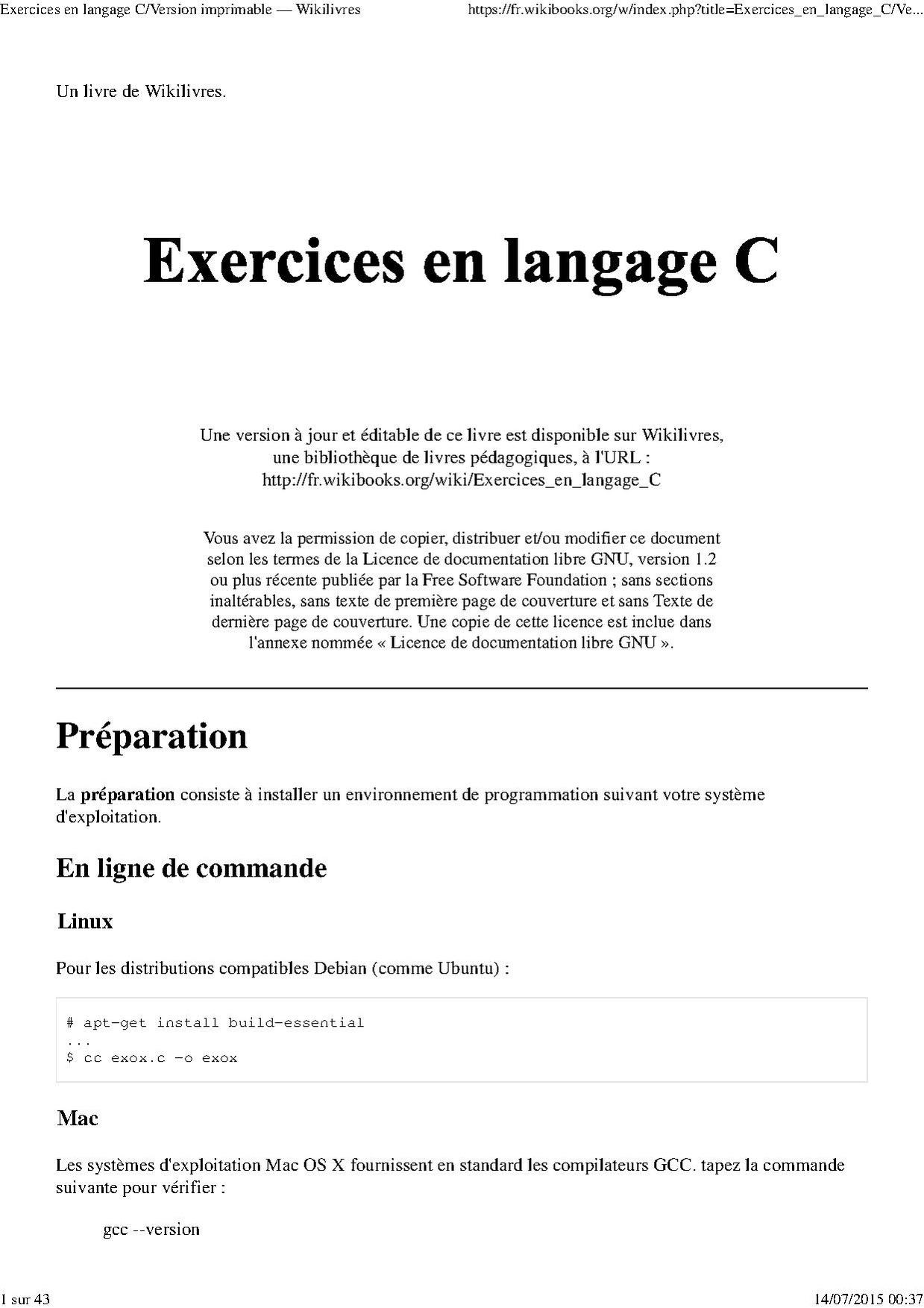 Langage c pdf en arabe