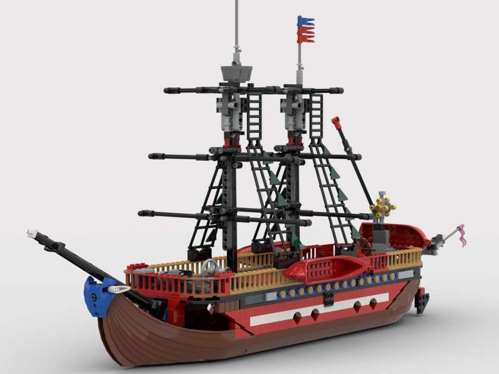 lego pirate ship moc instructions