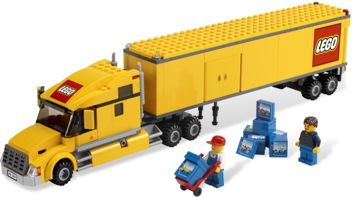 lego semi truck and trailer instructions