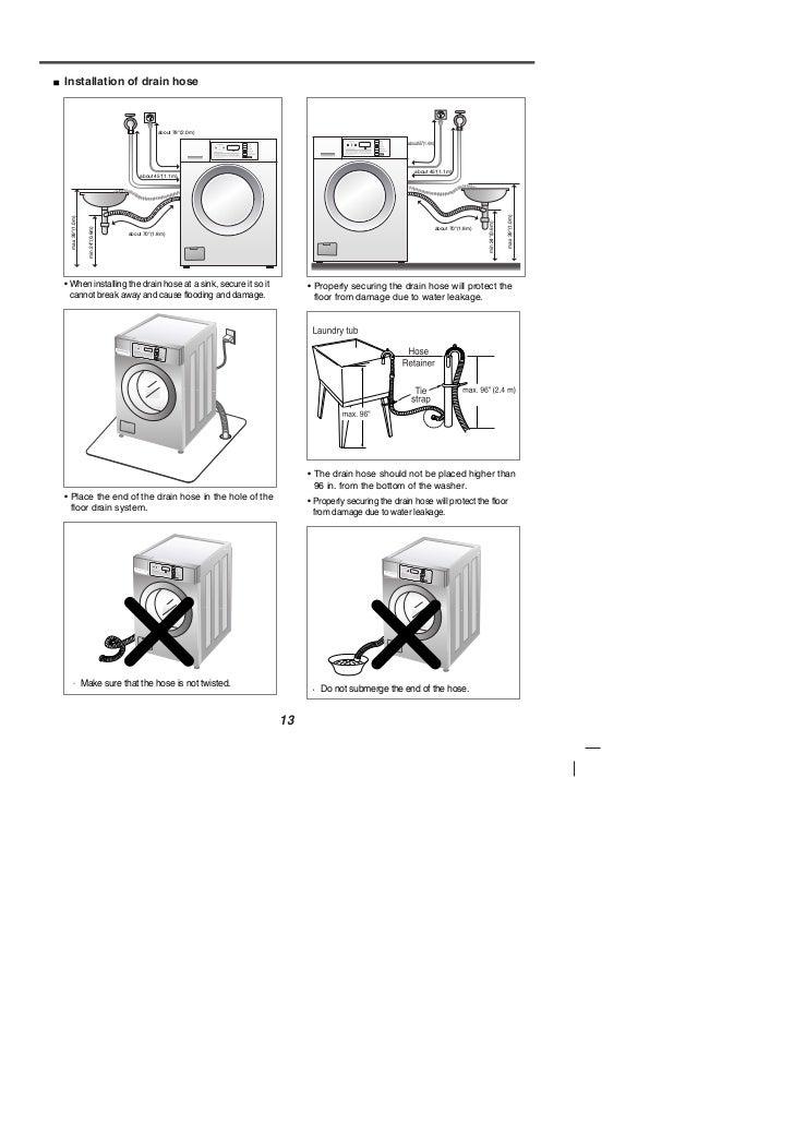 Lg washing machine instruction manual