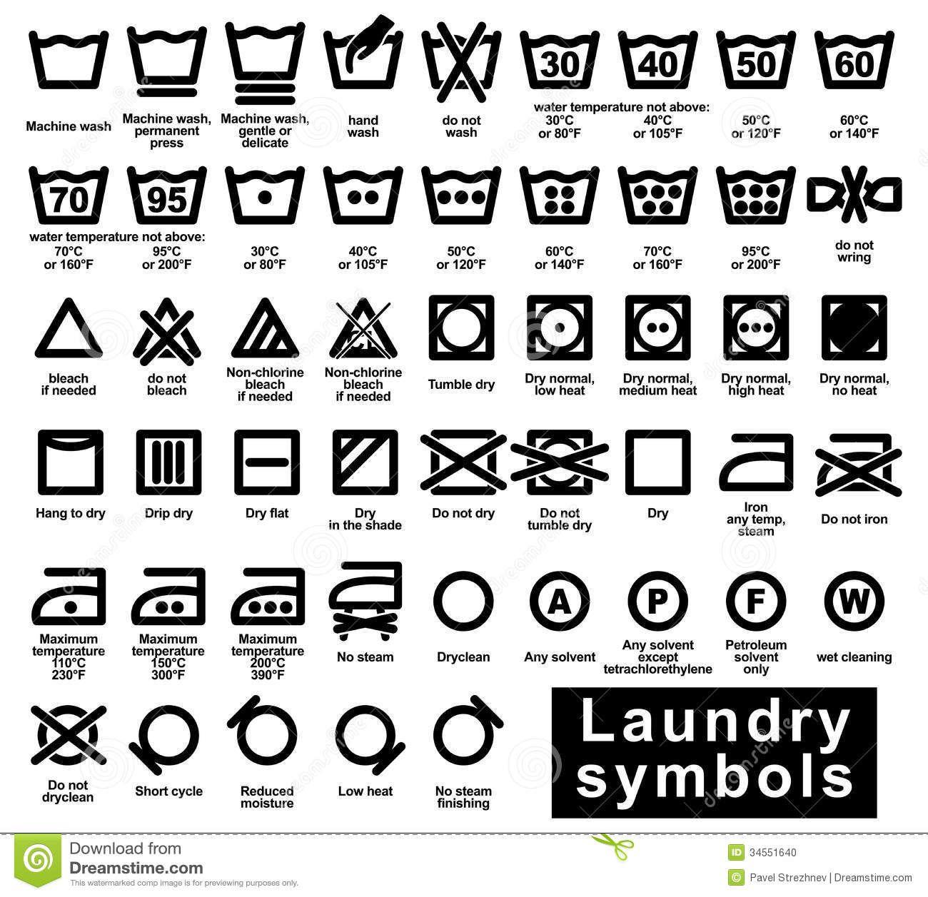 lululemon washing instructions symbols