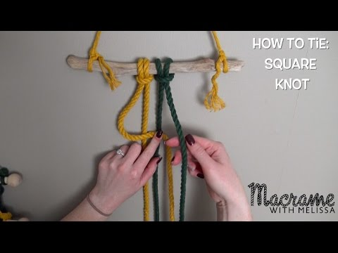 macrame square knot instructions