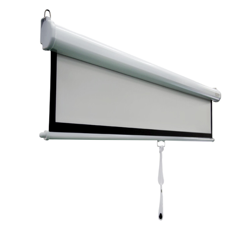 manual projector screen stuck down