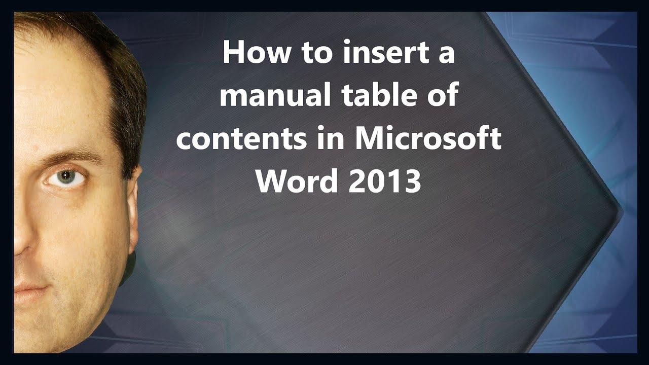 microsoft word 2013 user manual