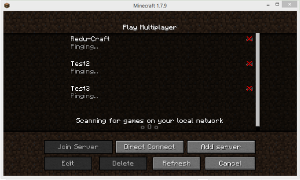 Minecraft how to join a local server
