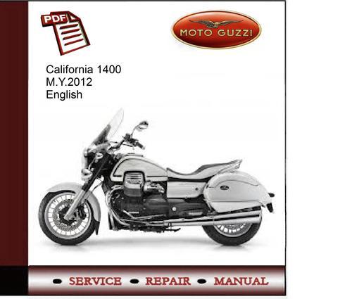 moto guzzi california ev workshop manual