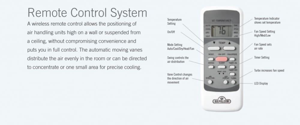 napoleon remote control instructions
