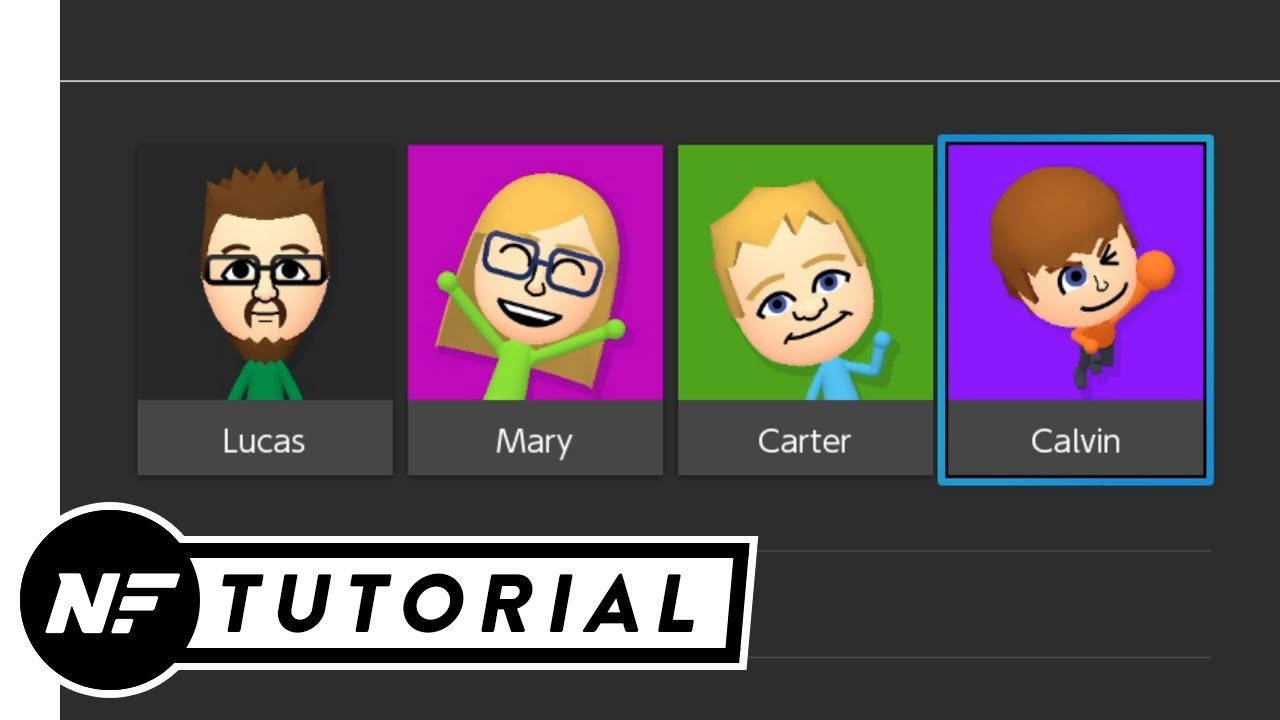 Nintendo switch how to create a 2nd mii