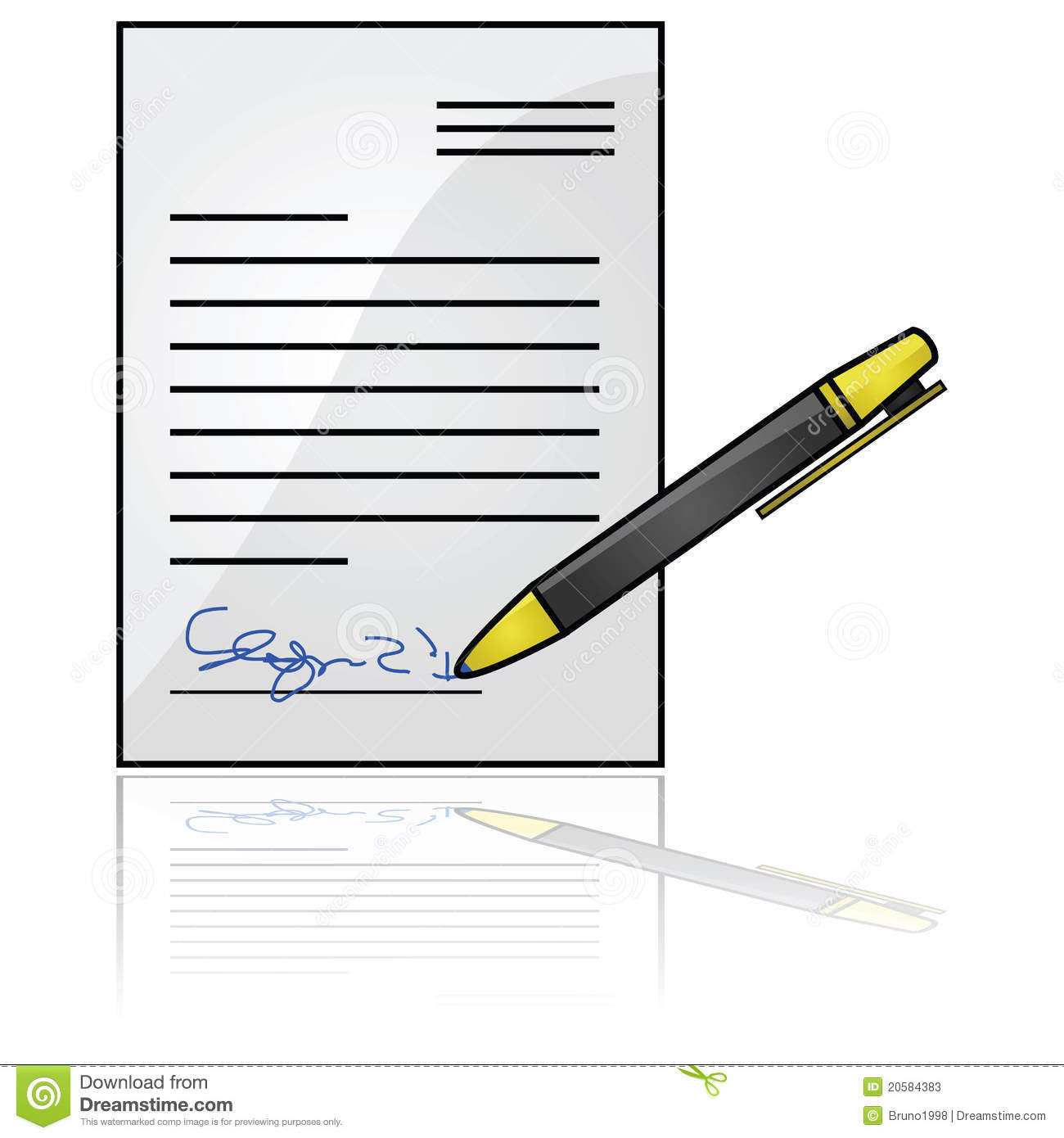 One who signs a document