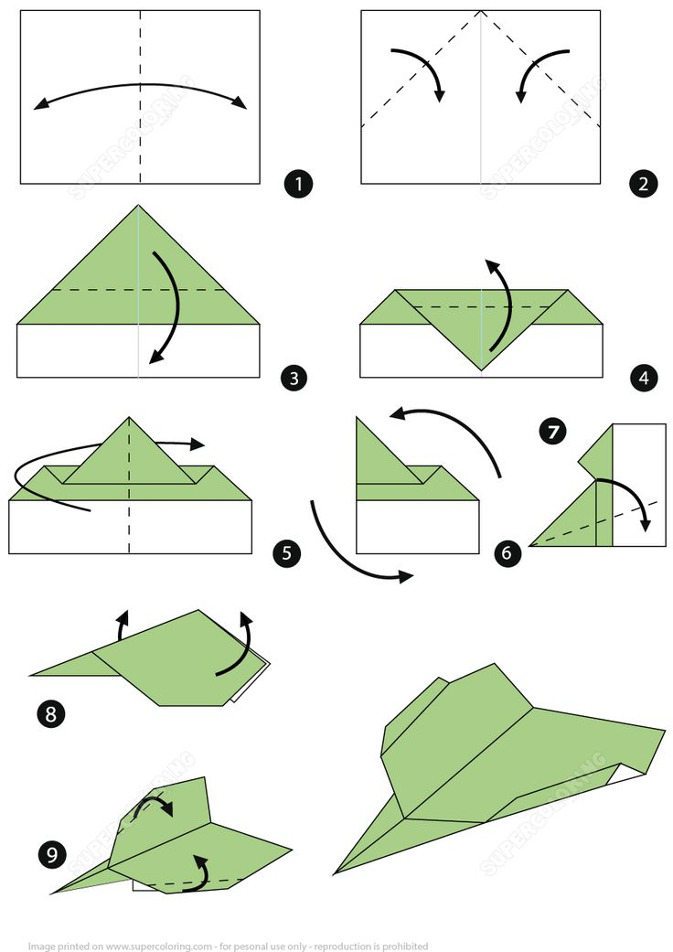 Paper plane instructions printable