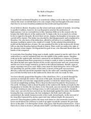 Pdf the myth of sisyphus
