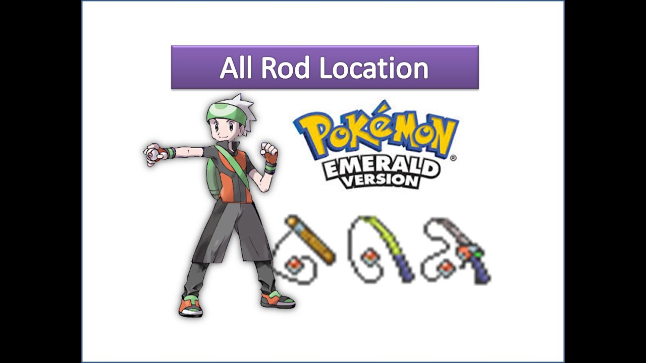 Pokemon emerald how to fish with rod