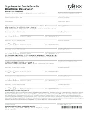 Quebec death benefit application form