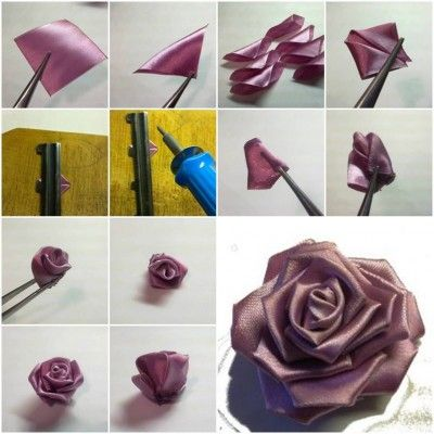 ribbon rose making instructions