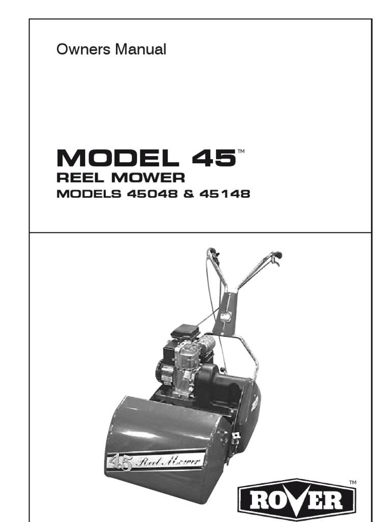 scott bonnar 520 mower service manual