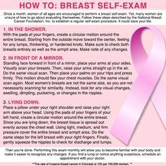 self breast exam instructions