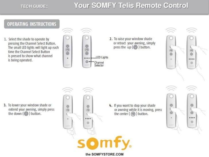 somfy remote programming instructions