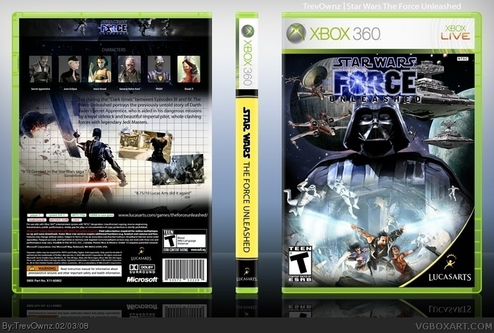 star wars force unleashed xbox 360 manual