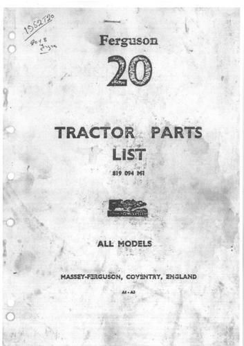 tea 20 ferguson tractor manual