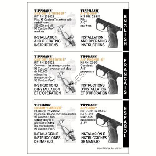 tippmann 98 e trigger manual
