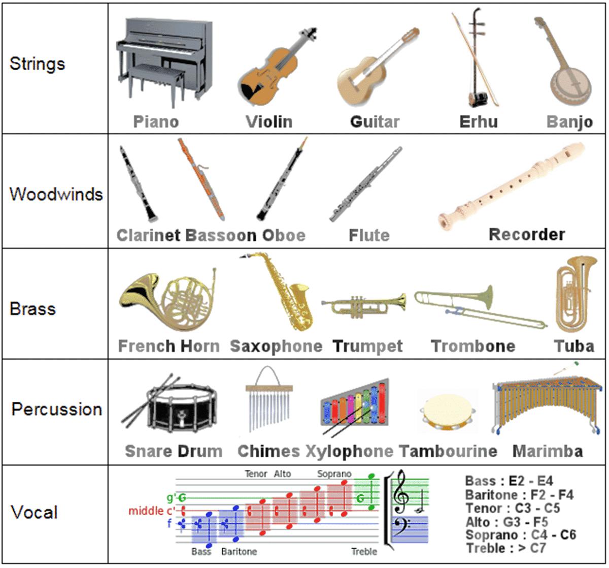 Types of music vocabulary pdf
