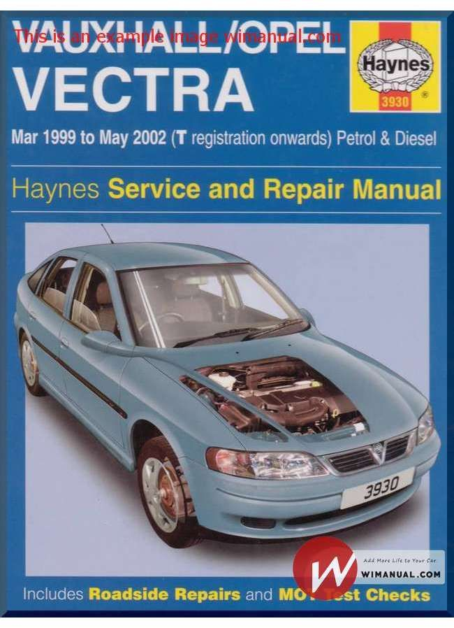 vectra workshop manual free download