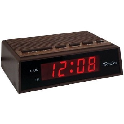 westclox led alarm clock manual