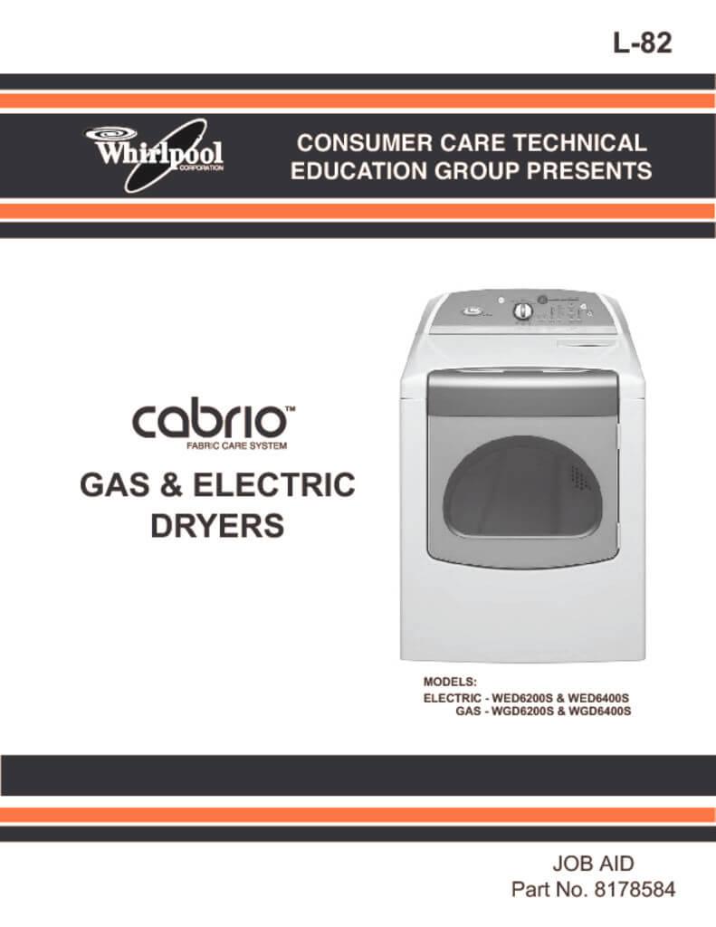 Whirlpool cabrio platinum dryer manual pdf