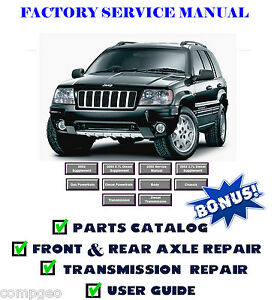 wj jeep grand cherokee service manual