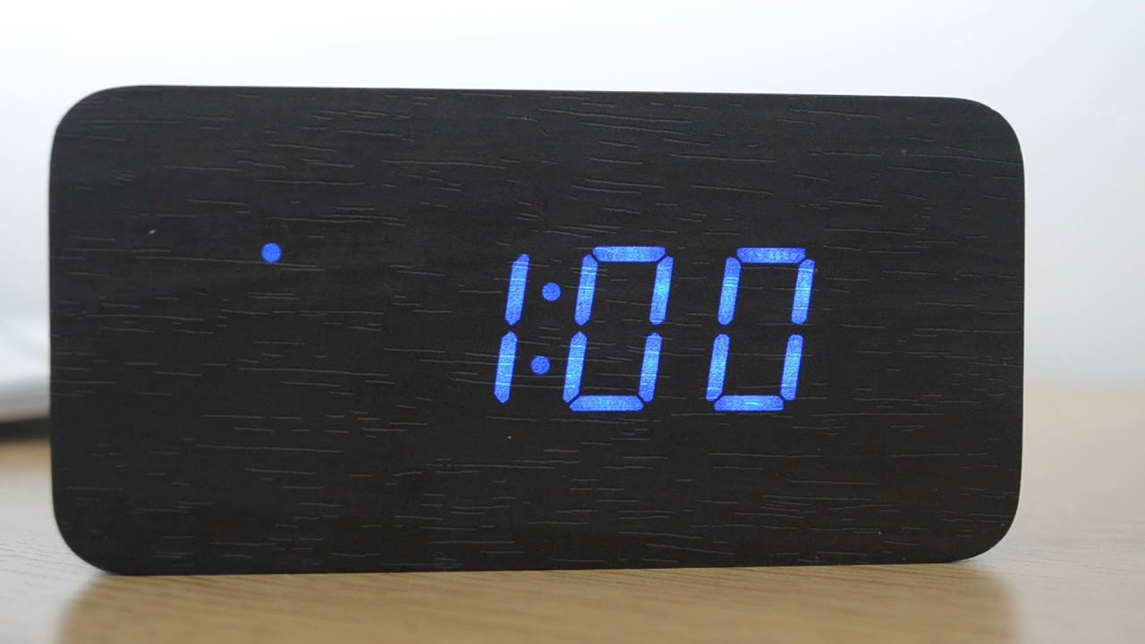 Wooden led clock instructions